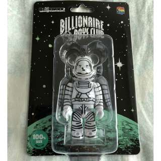 全新非賣品 MEDICOM TOYS X BILLIONAIRE BOYS CLUB 100% 太空人 BE@RBRICK BBC