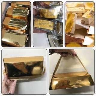 🚚 法式手工金箔金磚杏仁牛軋糖禮盒