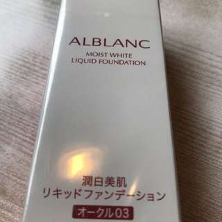 Sofina Alblanc Moist white liquid foundation 潤白美肌粉底液 03號 30ml