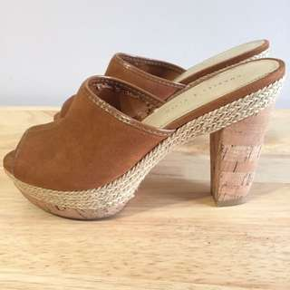 Charles and Keith Open Toe Wedges