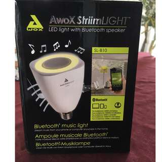 AwoX StriimLIGHT 8W E26 LED Light Bulb with Integrated Bluetooth Speaker