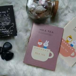 Milk tea small sized notebooks