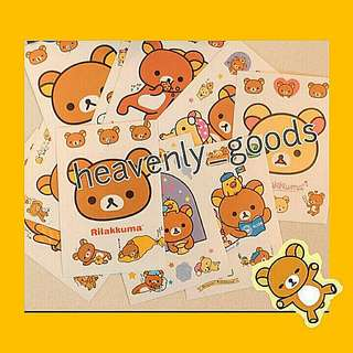 CARTOON STICKERS/DIARY PLANNER STICKERS/KOREA CARTOON STICKERS/GRABBAG/GRAB BAG/RILAKKUMA CARTOON BEAR STICKERS/SCRAPBOOK STICKERS/MUGS HANDPHONE LAPTOP LUGGAGE STICKERS