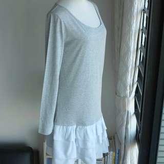 購自日本名牌A.T混絲光棉針織連衣裙
