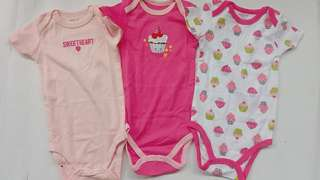 #Maumothercare Bodysuits Mother Nest Girl 7-9 Months (Small Cutting)