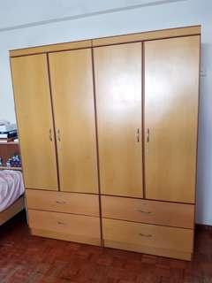 2 Door Wardrobe X 2 pieces