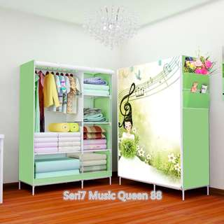 07 Music Queen Multifunction Wardrobe with cover lemari