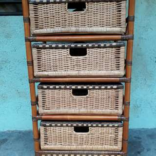 Beautiful Rattan Cabinet Drawer