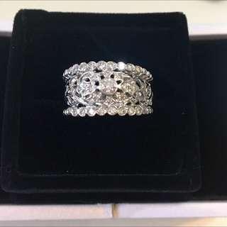 18K 750 白金 歐洲 款式 37份 重金 鑽石 💎戒指 diamond ring 💍