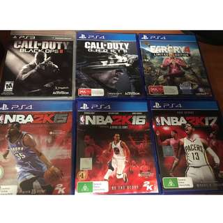 PS4 GAMES (1x PS3 GAME)