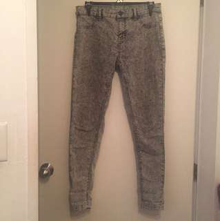 Grey mid rise jeans size 12
