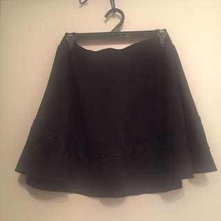 Short black skirt