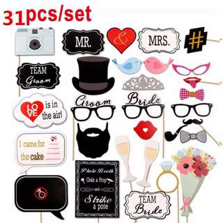 Wedding Props (Love is in the air) - 31 pcs (out of stock)