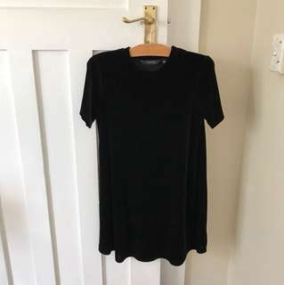 VELVET TSHIRT DRESS