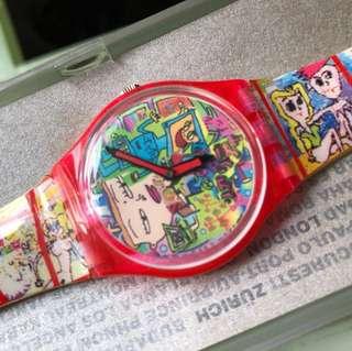1996年款 全新 swatch Swiss made 瑞士製手錶 日本地圖