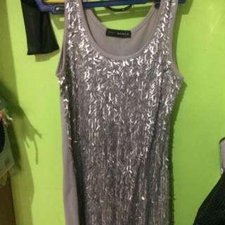 Silver/gray Bodycon Dress