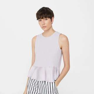 Mango Sleeveless Top Lilac