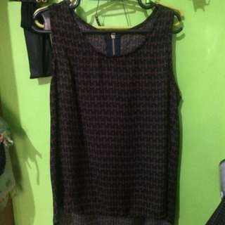 Tank Top with Back Zipper