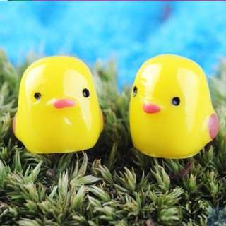 DIY micro landscape moss animals miniature ornament yellow chicken & duck