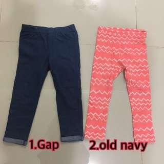 {小童}二手Gap / old navy內搭褲 3Y