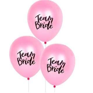 Team Bride Balloons   Bachelorette Party