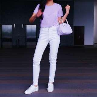 Authentic Lacoste Pastel Lavender Mini Bag