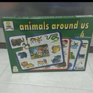 Animals Around Us (A set of 4 puzzles)