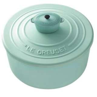 7-11 le creuset 餐具 綠色盒兩個