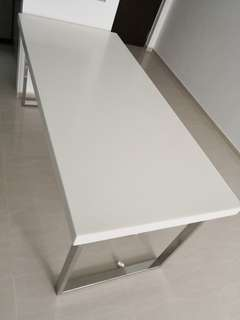 Solid surface dining table