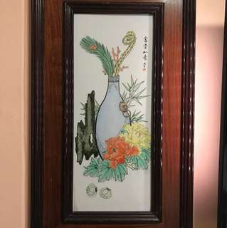 Chinese Water Painting on Tile