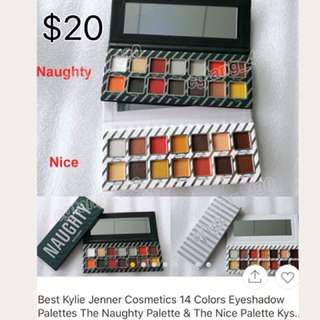 Kylie Jenner nice and naughty kyshadow eyeshadow pallettes