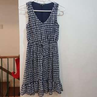 Chiffon printed dress w/ lining