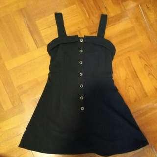 Heather dress 日牌 黑色 連身裙 背心裙 吊帶裙