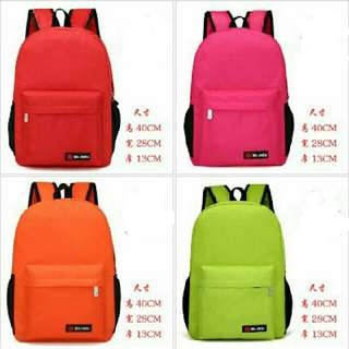 Nylon school backpack waterproof bag