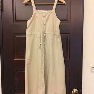 吊帶棉麻連身裙