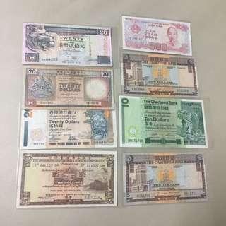 代友出售八張不同面額紙幣其中一張係外國紙幣