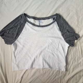 H&M Baseball Crop Top