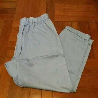Giordano baby blue pants trousers 粉藍色長褲
