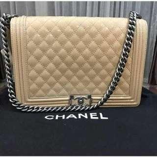 Chanel Boy New beige