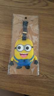 Minion luggage tag