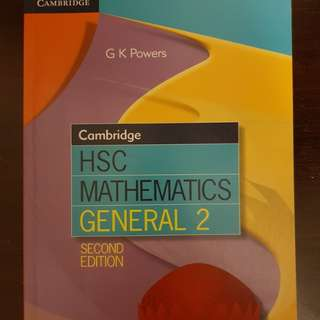 Cambridge HSC General Maths Textbook
