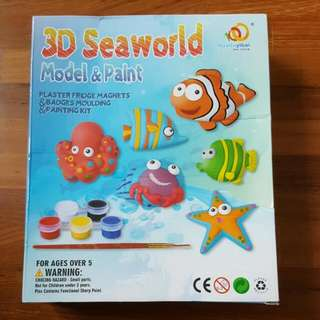 3D Seaworld model & paint - plaster fridge magnets and badges moulding and painting kit