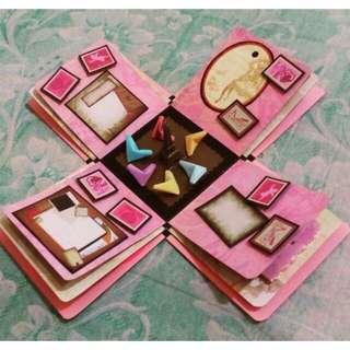 Explosion box / exploding box / gift box #10
