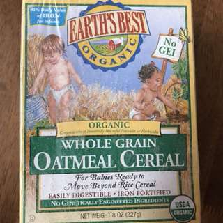 Earth's best organic Oatmeal Cereal