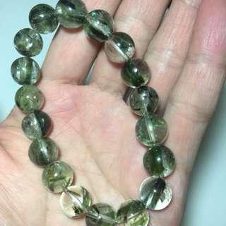罕有綠髮晶(內含物為碧璽)10.5mm