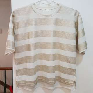 Gold stripes top