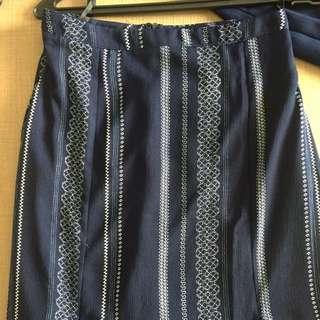 Something's borrowed high slit long skirt