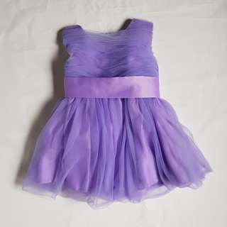 Purple Flower girl dress (90cm)