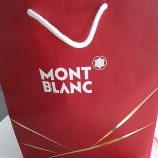 Mont blanc paper bag and dustbag