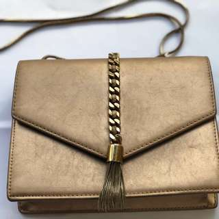 Charles Keith rose gold bag, need cleaning